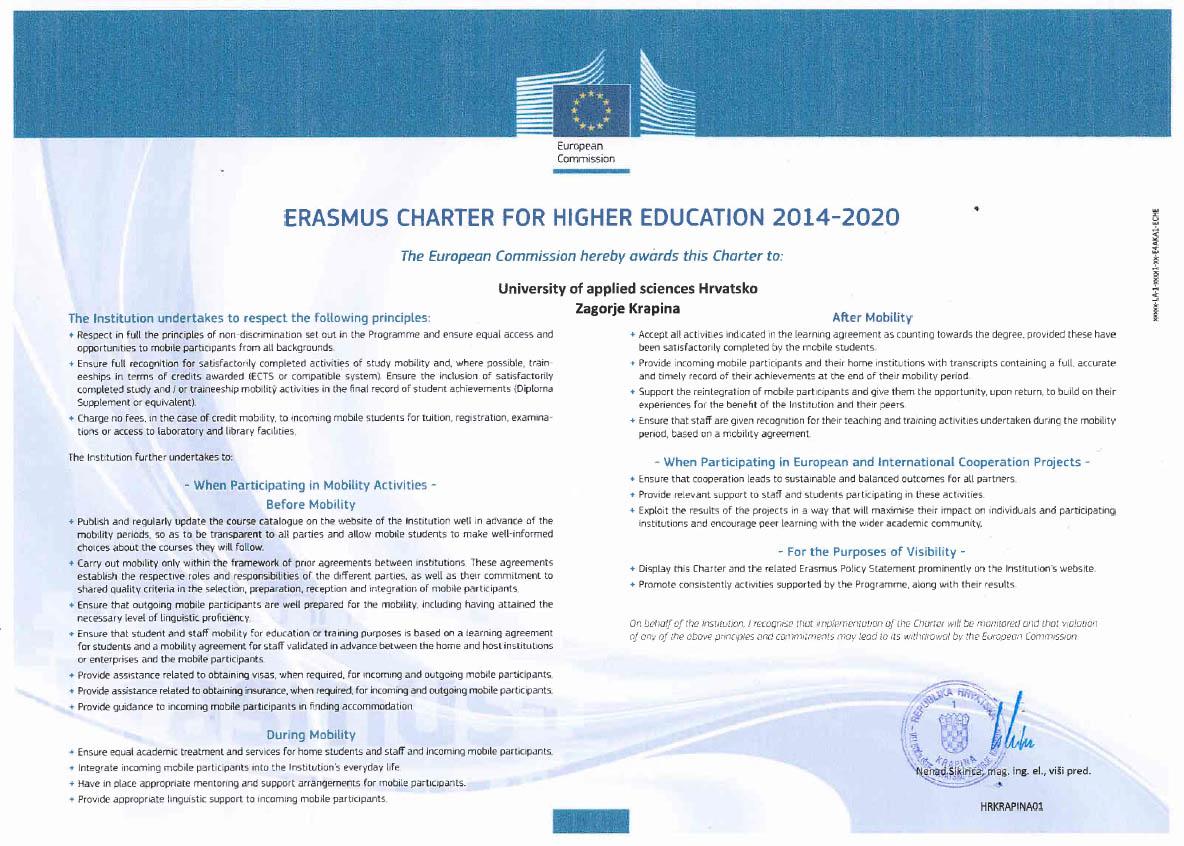 Erasmus+ povelja